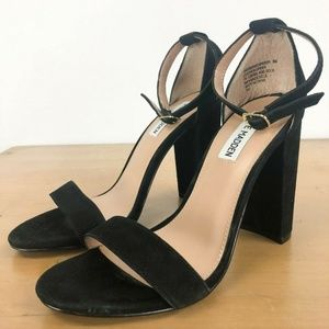 STEVE MADDEN Carrson Black Sandals 8M
